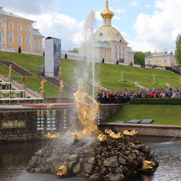 Закрытие фонтанов в Петергофе