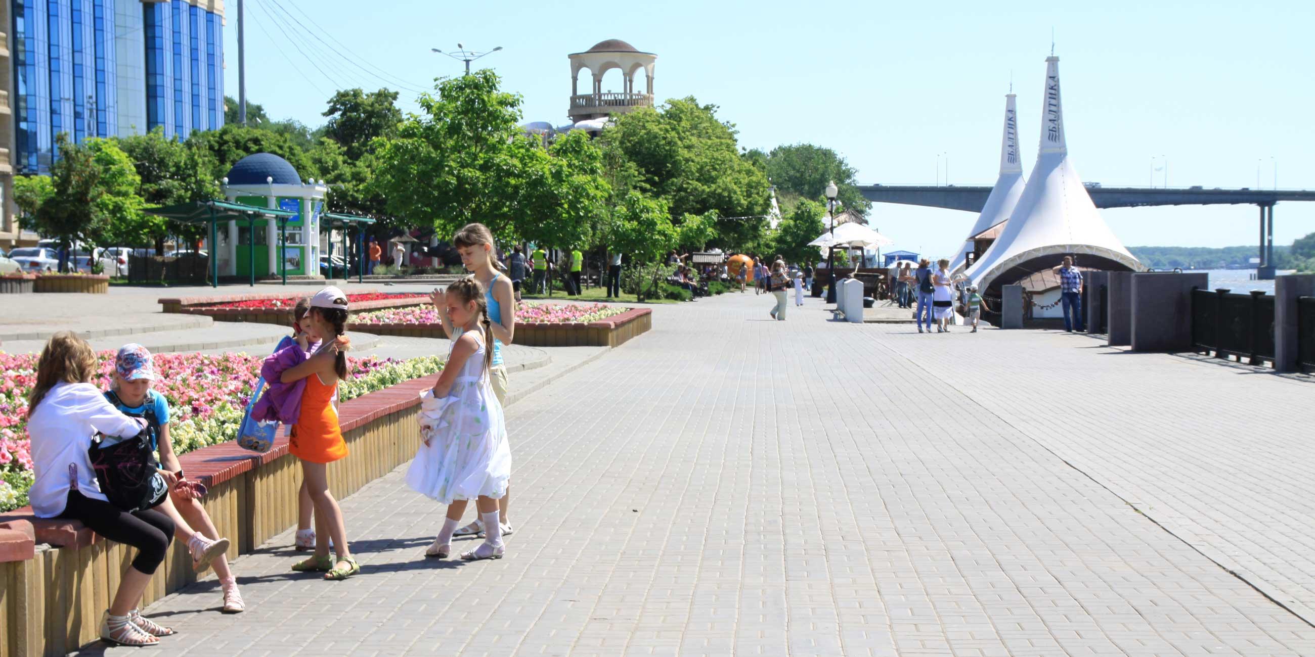 В теплое время года набережная реки Дон - любимое место прогулок ростовчанФото: Татьяна Казанцева