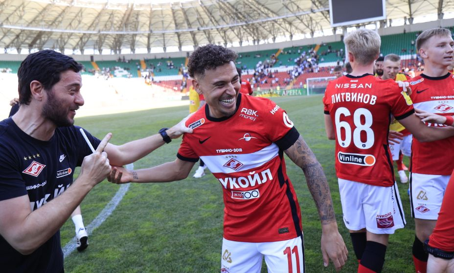 Форвард «Спартака» Джордан Ларссон может покинуть клуб. Фото: Global Look Press