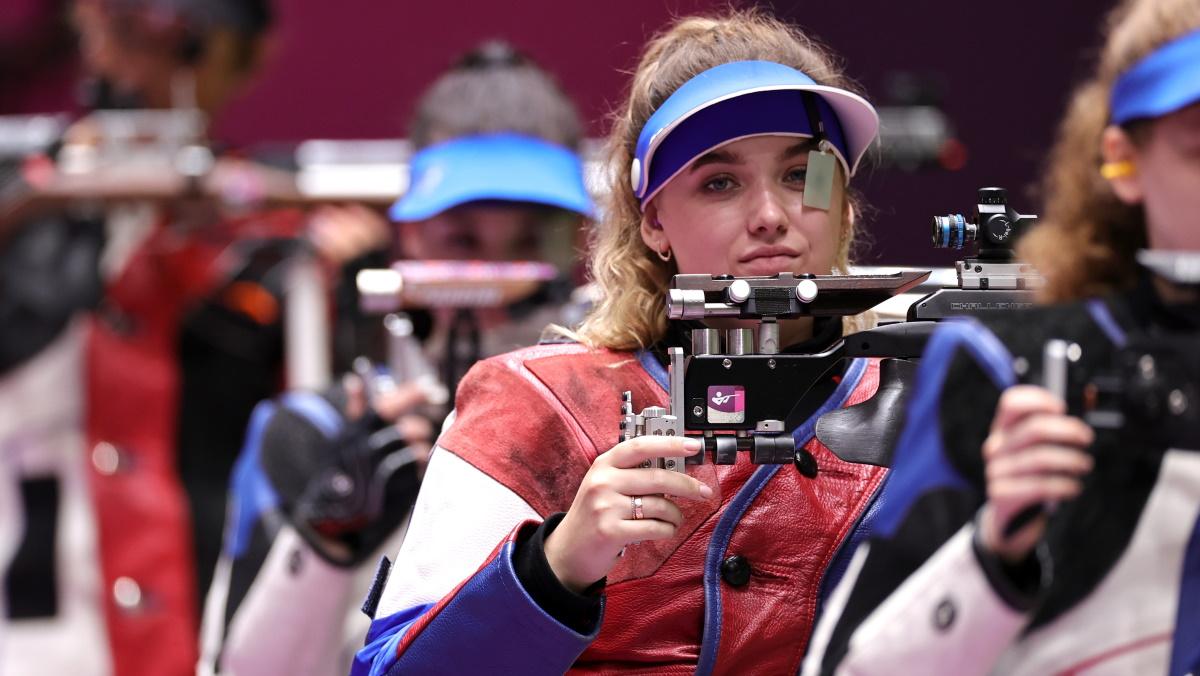 Анастасия Галашина - серебряный призер Олимпиады в Токио. Фото: REUTERS