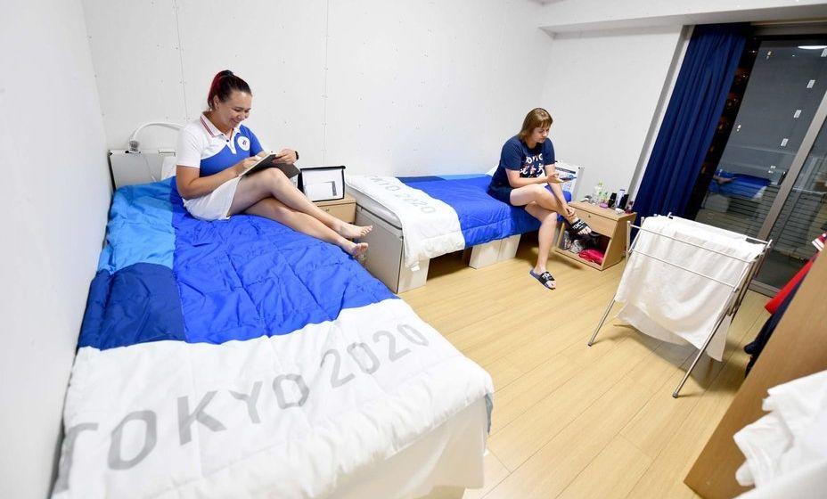 Олимпийцы больше не бояться картонных кроватей. Фото: ОКР