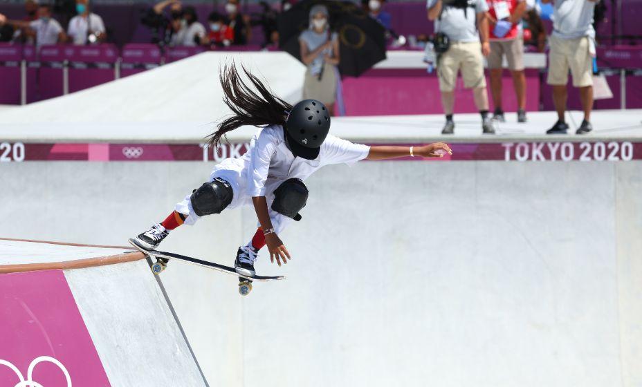 12-летняя японская скейтбордистка Кокона Хираки выиграла серебро Токио-2020. Фото: Reuters